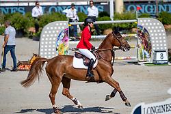 BLUM Simone (GER), DSP ALICE<br /> Rotterdam - Europameisterschaft Dressur, Springen und Para-Dressur 2019<br /> Longines FEI Jumping European Championship - Second Qualifying Competition<br /> Team Final Round 1<br /> 2. Qualifikation - Team Finale 1. Runde<br /> 22. August 2019<br /> © www.sportfotos-lafrentz.de/Dirk Caremans