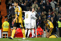 28.01.2012, Santiago Bernabeu Stadion, Madrid, ESP, Primera Division, Real Madrid vs Real Saragossa, 21. Spieltag, im Bild Real Madrid's Mesut Ozil goal // during the football match of spanish 'primera divison' league, 21th round, between Real Madrid and Real Saragossa at Santiago Bernabeu stadium, Madrid, Spain on 2012/01/28. EXPA Pictures © 2012, PhotoCredit: EXPA/ Alterphotos/ Cesar Cebolla..***** ATTENTION - OUT OF ESP and SUI *****