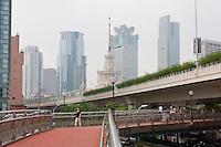 walkway over roads in Shanghai China