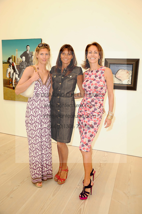 Left to right, AMARYLLIS FRASER, COUNTESS DEBONAIRE VON BISMARCK and ANDREA DELLAL at the BRIC art sale preview (Brazil, Russia, India & China, the acronym BRIC here refers to the burgeoning contemporary art practices within these four countries.) organised by Phillips de Pury & Company at The Saatchi Gallery, London on 17th April 2010.
