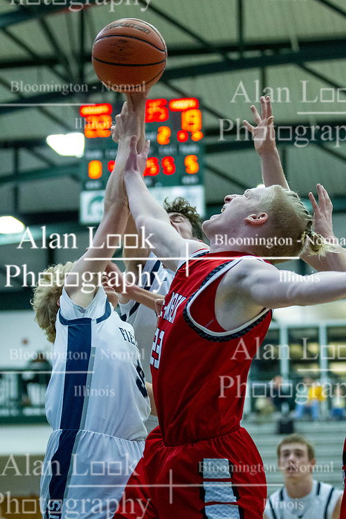25 January 2020: DeeMack (Deer Creek Mackinaw) Chiefs v Fieldcrest Knights boys 3rd place during the 109th 2020 McLean County Tournament at Shirk Center in Bloomington IL<br /> <br /> Photo by Alan Look