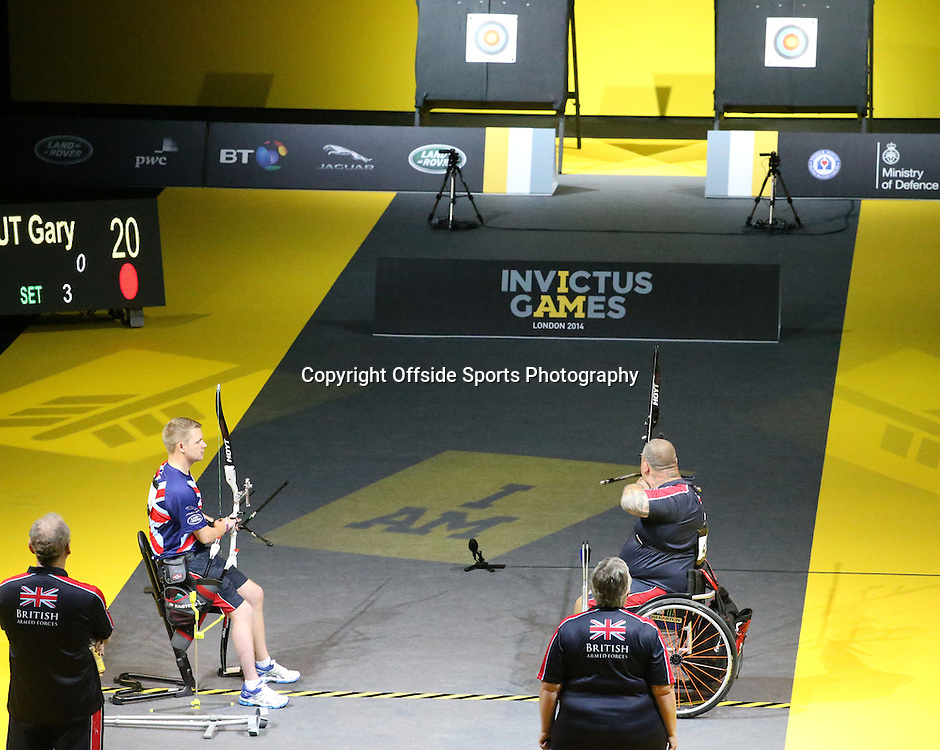 12 September 2014 - Invictus Games Day 2 - Gary Prout of Team GB goes up against Steven Gill of Team GB. <br /> <br /> Photo: Ryan Smyth/Offside