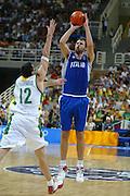 ATENE,  27 AGOSTO 2004<br /> OLIMPIADI ATENE 2004<br /> BASKET, SEMIFINALE<br /> ITALIA - LITUANIA<br /> NELLA FOTO: GIACOMO GALANDA<br /> FOTO CIAMILLO