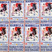 Cartel de Toros de la plaza de Marbella. Málaga, Andalucia. España. Poster Bulls of Marbella Bullring. Malaga. Spain
