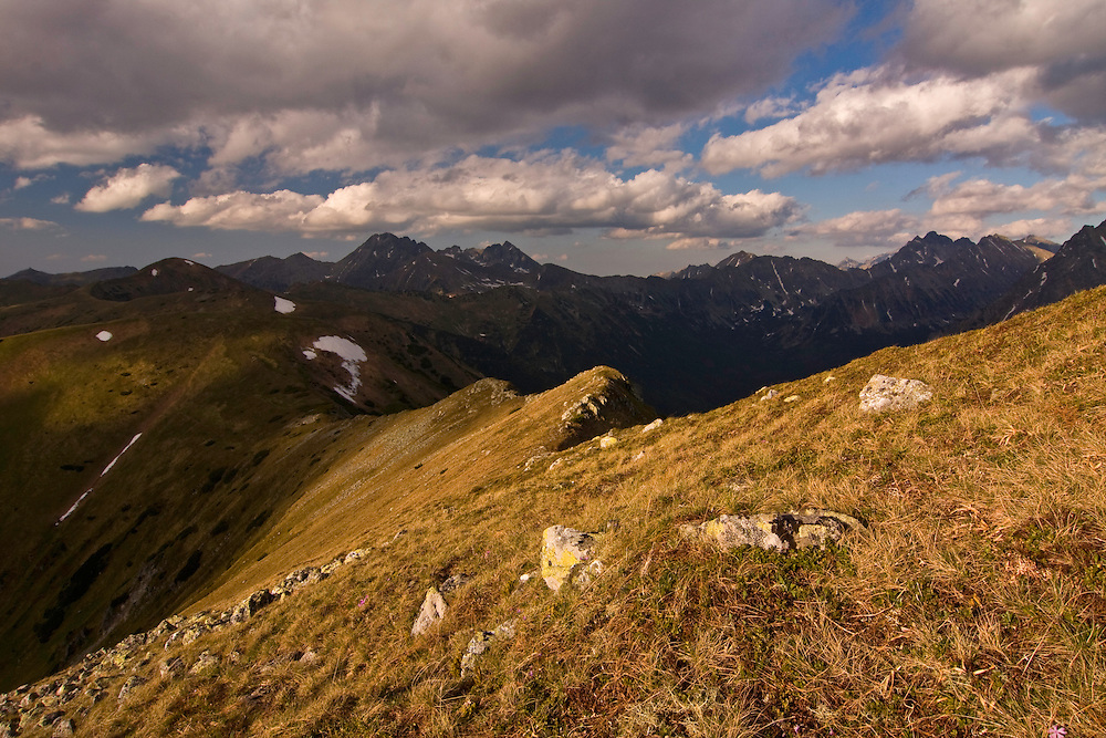 Middle ridge in the Liptovske kopi. Western Tatras, Slovakia. June 2009. Mission: Ticha