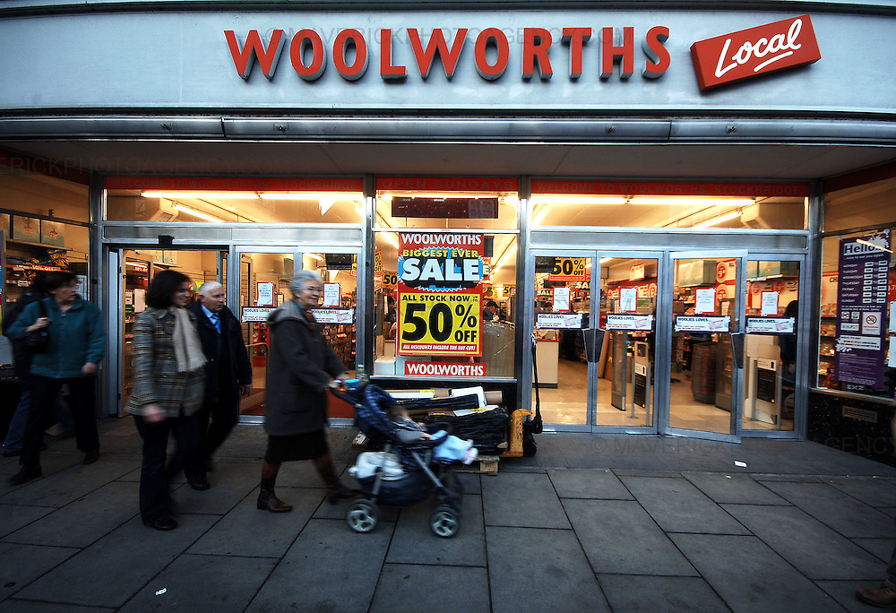 High street department store Woolworths begins it's closing down sale today after a buyer couldn't be found for the struggling store...Pic shows GV of the Woolworths local in Stockbridge, Edinburgh.
