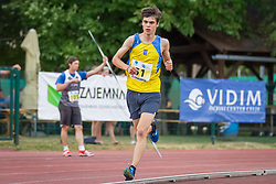 Vid Botolin competes during day 2 of Slovenian Athletics Cup 2019, on June 16, 2019 in Celje, Slovenia. Photo by Peter Kastelic / Sportida