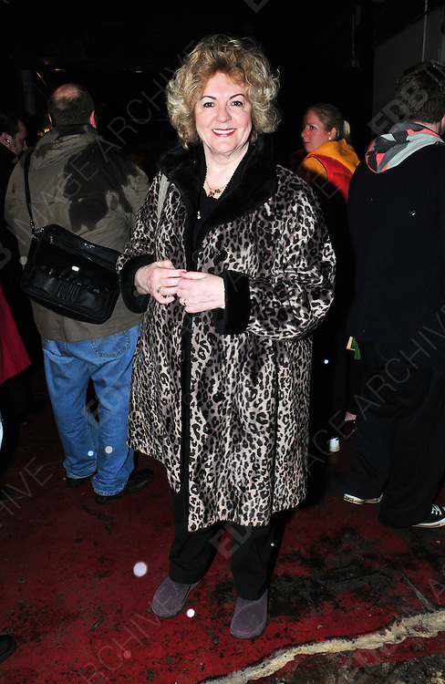 25.FEBRUARY.2011. MANCHESTER<br /> <br /> ACTRESS GWEN TAYLOR AT THE CALENDAR GIRLS MUSICAL AT THE PALACE THEATRE AT OXFORD STREET IN MANCHESTER<br /> <br /> BYLINE: EDBIMAGEARCHIVE.COM<br /> <br /> *THIS IMAGE IS STRICTLY FOR UK NEWSPAPERS AND MAGAZINES ONLY*<br /> *FOR WORLD WIDE SALES AND WEB USE PLEASE CONTACT EDBIMAGEARCHIVE - 0208 954 5968*