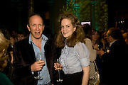SIMON SEBAG-MONTEFIORE; CAMILLA LONG, Orion Publishing Group Author Party. V &amp; A. London. 18 February 2009.  *** Local Caption *** -DO NOT ARCHIVE -Copyright Photograph by Dafydd Jones. 248 Clapham Rd. London SW9 0PZ. Tel 0207 820 0771. www.dafjones.com<br /> SIMON SEBAG-MONTEFIORE; CAMILLA LONG, Orion Publishing Group Author Party. V &amp; A. London. 18 February 2009.
