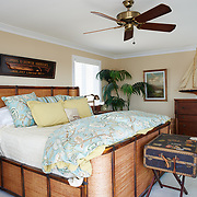 AVALON, NJ - JUNE 10, 2017: The master bedroom with bay views and deck on the second floor. 4738 Ocean Dr, Avalon, NJ. Credit: Albert Yee for the New York Times