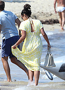 15.JUNE.2013. ST.TROPEZ<br /> <br /> TAMARA ECCLESTONE AND NEW HUBAND JAY RUTTLAND CONTINUE THEIR HONEYMOON IN SAINT-TROPEZ, FRANCE. THEY LEAVE THEIR YACHT TO GO TO LUNCH AT 'LES PALMIERS' RESTAURANT THEN GOING FOR A WALK ON THE FAMOUS BEACH OF PAMPELONNE BEFORE GOING BACK TO THE 'SILVER ANGEL' YACHT.<br /> <br /> BYLINE: EDBIMAGEARCHIVE.CO.UK<br /> <br /> *THIS IMAGE IS STRICTLY FOR UK NEWSPAPERS AND MAGAZINES ONLY*<br /> *FOR WORLD WIDE SALES AND WEB USE PLEASE CONTACT EDBIMAGEARCHIVE - 0208 954 5968*