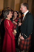 BUMBLE FINDLAY; JAMIE FRASER, The Royal Caledonian Ball 2016. Grosvenor House. Park Lane, London. 29 April 2016