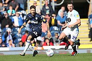 Leeds United midfielder Kalvin Phillips (23) and Blackburn Rovers midfielder Corry Evans (29) during the EFL Sky Bet Championship match between Blackburn Rovers and Leeds United at Ewood Park, Blackburn, England on 20 October 2018.