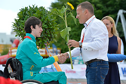 05/08/2017; Podium at 2017 World Para Athletics Junior Championships, Nottwil, Switzerland