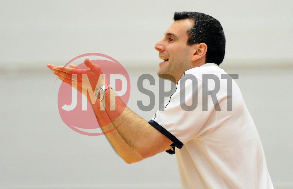 Bristol Flyers head coach, Andreas Kapoulas - Photo mandatory by-line: Dougie Allward/JMP - Mobile: 07966 386802 - 27/02/2015 - SPORT - basketball - Bristol - SGS Wise Campus - Bristol Flyers v Leeds Force - British Basketball League