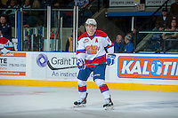 KELOWNA, CANADA - NOVEMBER 9: Curtis Lazar #27 o the Edmonton Oil Kings stands on the ice at the Kelowna Rockets on November 9, 2013 at Prospera Place in Kelowna, British Columbia, Canada.  Lazar is a 2013 NHL entry draft pick of the Ottawa Senators.  (Photo by Marissa Baecker/Shoot the Breeze)  ***  Local Caption  ***