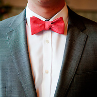 Detail of Matt's retro bow tie - Chicago Wedding Photography