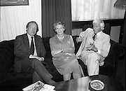 Jimmy Saville guest of An Taoiseach...Photographed at an Taoiseach's Office, Government Buildings...1980-05-26.26th May 1980.26-05-80.05-26-80..From left:..An Taoiseach Charles Haughey TD..Lady Valerie Goulding of the Central Remedial Clinic..Jimmy Saville.<br /> <br /> black and white photographs of Jimmy Saville with Taoiseach Charles Haughey in Dublin, Ireland. <br /> black and white photos of Jimmy Saville with Taoiseach Charles Haughey in Dublin, Ireland. <br /> black and white portraits of Jimmy Saville with Taoiseach Charles Haughey in Dublin, Ireland. <br /> famous historical pictures of Jimmy Saville with Taoiseach Charles Haughey in Dublin, Ireland. <br /> famous photographers of Jimmy Saville with Taoiseach Charles Haughey in Dublin, Ireland. <br /> famous photos of Jimmy Saville with Taoiseach Charles Haughey in Dublin, Ireland. <br /> google images of Jimmy Saville with Taoiseach Charles Haughey in Dublin, Ireland. <br /> historic image of Jimmy Saville with Taoiseach Charles Haughey in Dublin, Ireland. <br /> historic images of Jimmy Saville with Taoiseach Charles Haughey in Dublin, Ireland. <br /> historic photo of Jimmy Saville with Taoiseach Charles Haughey in Dublin, Ireland. <br /> historic photo of Jimmy Saville with Taoiseach Charles Haughey in Dublin, Ireland. <br /> historic photograph of Jimmy Saville with Taoiseach Charles Haughey in Dublin, Ireland. <br /> historic photographs of Jimmy Saville with Taoiseach Charles Haughey in Dublin, Ireland. <br /> historic photos of Jimmy Saville with Taoiseach Charles Haughey in Dublin, Ireland. <br /> historic picture of Jimmy Saville with Taoiseach Charles Haughey in Dublin, Ireland. <br /> historic pictures of Jimmy Saville with Taoiseach Charles Haughey in Dublin, Ireland. <br /> historic pixs of Jimmy Saville with Taoiseach Charles Haughey in Dublin, Ireland.