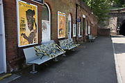 benches, St. Leonards station, 9 May 2020
