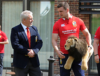 Rugby Union - 2017 British & Irish Lions Tour to New Zealand - Squad & Captain Announcement Press Conference<br /> <br /> Coach Warren Gatland with the Lions Captain, Sam Warburton at the Hilton Syon Park, London.<br /> <br /> COLORSPORT/ANDREW COWIE