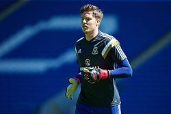 CARDIFF, WALES - Friday, June 5, 2015: Wales' goalkeeper Wayne Hennessey before a practice match at the Cardiff City Stadium ahead of the UEFA Euro 2016 Qualifying Round Group B match against Belgium. (Pic by David Rawcliffe/Propaganda)