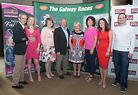 07/07/2014 repro free 1st use. Gillian and Ruby Walsh Annette Feerick, John and Noreen Moloney, Mary Mahoney, Sandra Ginnelly and Brian Sheerin at the launch of the Galway Races 7 day racing Summer Festival at the Radisson blu Hotel Galway. Photo:Andrew Downes