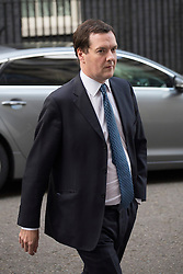 © licensed to London News Pictures. London, UK 11/09/2013. Chancellor of the Exchequer, George Osborne leaving Downing Street on Wednesday, September 11, 2013. Photo credit: Tolga Akmen/LNP