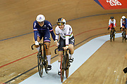 Women Keirin, Mathilde Gros (France) gold medal, Nicky Degrendele (Belgium) silver medal, during the Track Cycling European Championships Glasgow 2018, at Sir Chris Hoy Velodrome, in Glasgow, Great Britain, Day 6, on August 7, 2018 - Photo luca Bettini / BettiniPhoto / ProSportsImages / DPPI<br /> - Restriction / Netherlands out, Belgium out, Spain out, Italy out -