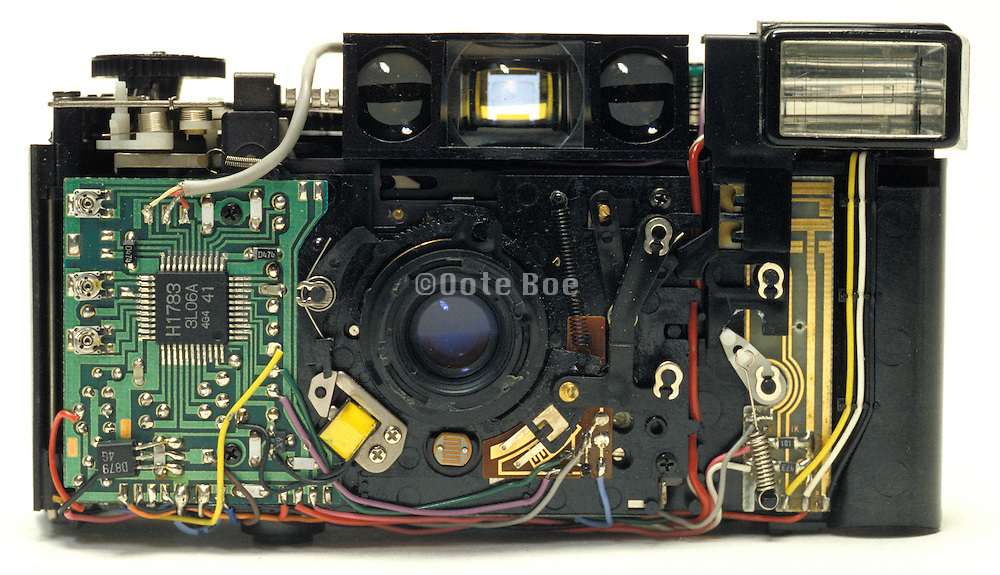 front interior of point and shoot camera