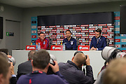 England Midfielder Wayne Rooney left and Gareth Southgate caretaker Manager during the England Press Conference at Stadion Stozce , Ljubljana, Slovenia on 10 October 2016. Photo by Phil Duncan.