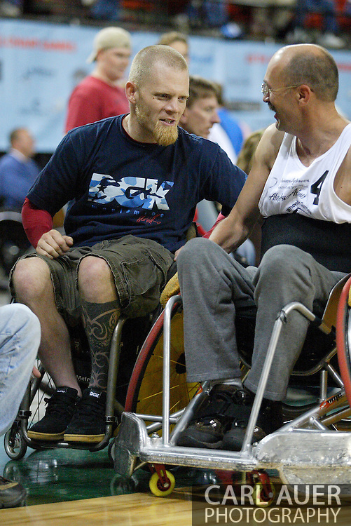 """July 7th, 2006: Anchorage, AK - Mark Zupan from the movie """"Murderball at the Gold medal game of Quad Rugby at the 26th National Veterans Wheelchair Games."""