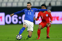 VITTORIO PARIGINI (ITALY) VS JAY DASILVA (ENGLAND)     <br /> Football friendly match Italy vs England u21<br /> Ferrara Italy November 15, 2018<br /> Photo by Filippo Rubin
