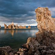 Surreal tufa formations at Mono Lake, Califorina.