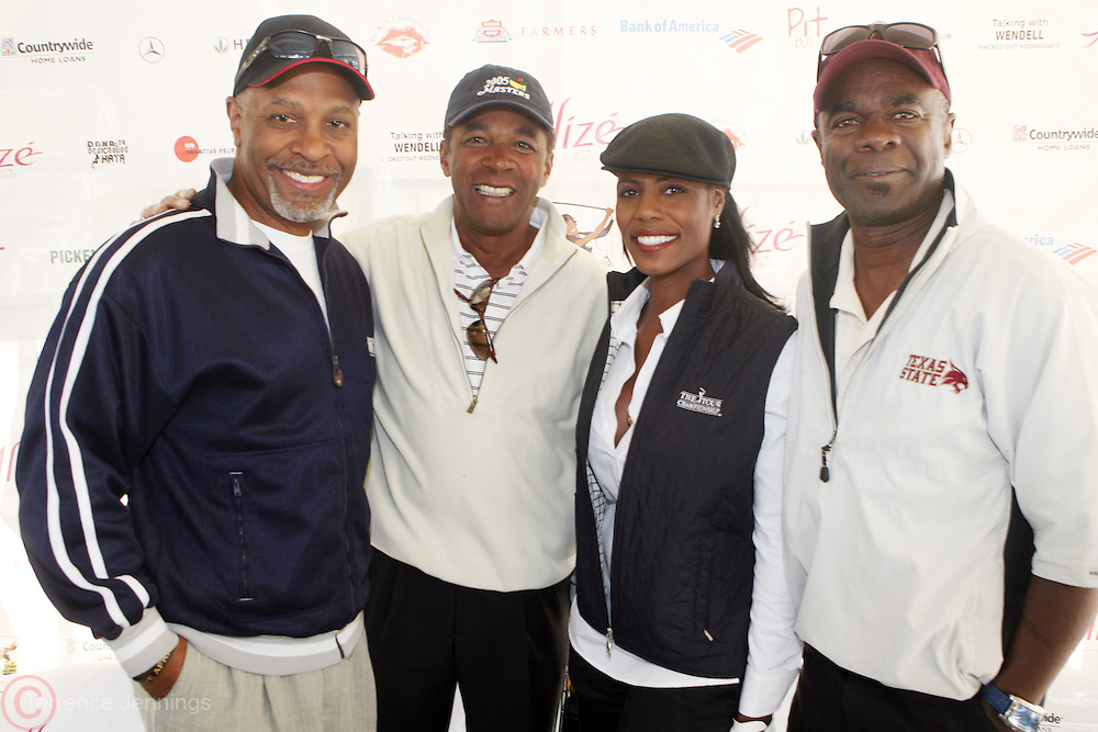 l to r: James Pickens, Jr., Clifton Davis, Omarosa, and Glynn Turman at ?Kiki's 1st Annual Celebrity Golf Challenge? Presented by ALIZÉ, The Premium Liqueur held at The Braemar Country Club on October 134, 2008 in Tarzana, Ca.. KiKi?s Celebrity Golf Challenge (CGC) - conceived and spearheaded by Ms. Shepard ? is a fundraising event to benefit The K.I.S. Foundation, Inc.  The central mission of The K.I.S. Foundation is to inform and educate the public, raise awareness about Sickle Cell Disease through community outreach programs and educational scholarships, and to financially help support the efforts of research institutions to find a universal cure. Sickle Cell Disease is an inherited, non-contagious blood disease that can be crippling, painful, and life threatening. The K.I.S. Foundation Awards Banquet will also honor individuals and organizations who have selflessly committed themselves in the fight against Sickle Cell Disease...