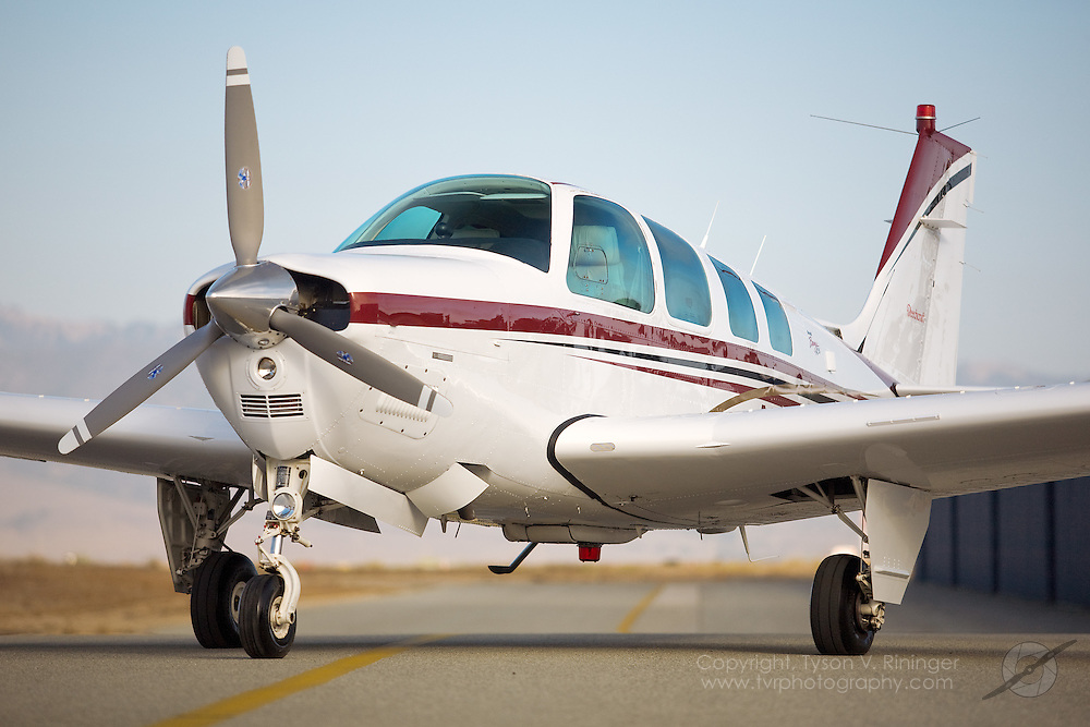 Brokerage Shoot of Beechcraft Bonanza B36 Single Engine Aircraft