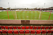 the seats await the fans before the Sky Bet League 2 match between Accrington Stanley and Newport County at the Fraser Eagle Stadium, Accrington, England on 14 November 2015. Photo by Mark Pollitt.