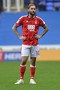 Nottingham Forest midfielder Henri Lansbury (10) during the EFL Sky Bet Championship match between Reading and Nottingham Forest at the Madejski Stadium, Reading, England on 29 October 2016. Photo by Mark Davies.