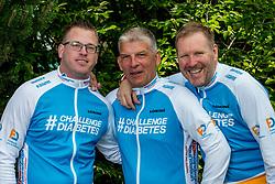 24-06-2017 NED: We Bike 2 Change Diabetes, Landgraaf<br /> Oefenweekend voor 15 deelnemers die in september de Tour de Mont Blanc gaan doen. Thijs, Harold en Peter