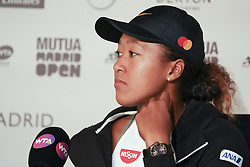 May 7, 2019 - Madrid, Spain - Naomi Osaka  attends a press conference during day four of the Mutua Madrid Open at La Caja Magica on May 07, 2019 in Madrid, Spain  (Credit Image: © Oscar Gonzalez/NurPhoto via ZUMA Press)