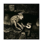 """""""Monkey Gone to Heaven 1988/2014"""": Sleeve artwork for the Pixies: """"Monkey Gone to Heaven"""" and """"Doolittle"""" (4AD Records/1988). The negative was made in 1988 on Agfapan 25 120 film and hand-printed by me, the photographer, in June 2014, on 12"""" x16""""  (40.64cm x 50.80cm) Foma Fomatone Classic fibre paper as a limited edition of 15. The prints are silver gelatin """"lith prints"""" that have been split-selenium toned and processed using archival methods. Each print is stamped, titled, numbered, dated, signed by myself and comes with a certificate of authenticity. Please email me at info@simon-larbalestier.co.uk for availability and shipping info. All prints are shipped from the United Kingdom. *Stated price does not include shipping."""