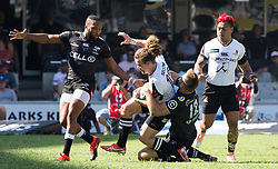 Durban. 100318.  Andre Esterhuizen of the Cell C Sharks during the Super Rugby match between Cell C Sharks and Micheal Little Sunwolves at Jonsson Kings Park Stadium on March 10, 2018 in Durban, South Africa. Picture Leon Lestrade/African News Agency/ ANA