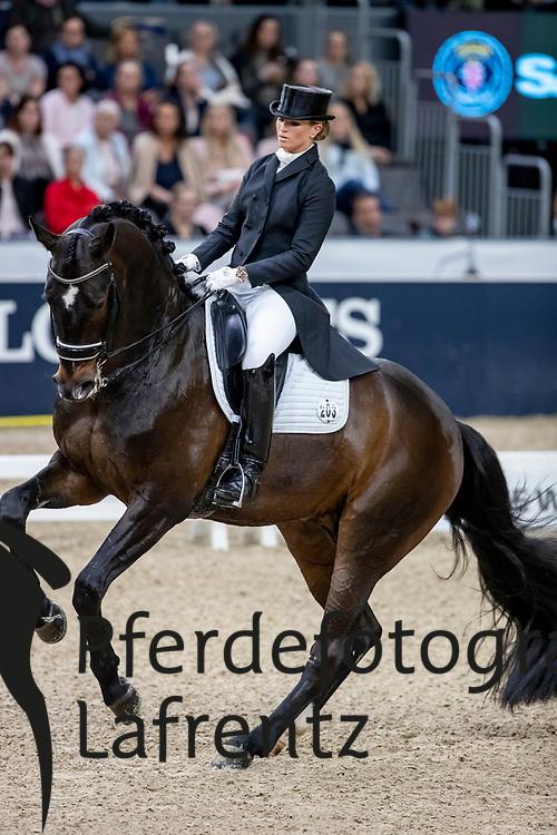 BARBANÇON Morgan (FRA), Sir Donnerhall II OLD<br /> Göteborg - Gothenburg Horse Show 2019 <br /> FEI Dressage World Cup™ Final I<br /> Int. dressage competition - Grand Prix de Dressage<br /> Longines FEI Jumping World Cup™ Final and FEI Dressage World Cup™ Final<br /> 05. April 2019<br /> © www.sportfotos-lafrentz.de/Stefan Lafrentz