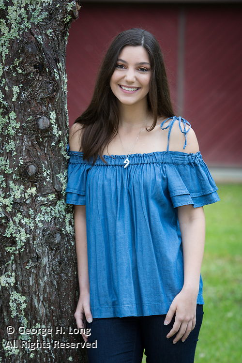 High school senior portrait of Alexandra Randazzo in Abita Springs; photo ©2018, George H. Long