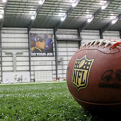 July 27, 2012; Metairie, LA, USA; A sign of New Orleans Saints head coach Sean Payton who was suspended by NFL commissioner Roger Goodell is seen in the foreground following training camp practice at the team's indoor practice facility. Mandatory Credit: Derick E. Hingle-US PRESSWIRE