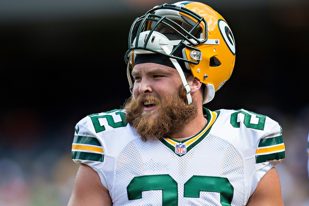 CHICAGO, IL - SEPTEMBER 13:  Aaron Ripkowski #22 of the Green Bay Packers on the sidelines during a game against the Chicago Bears at Soldier Field on September 13, 2015 in Chicago, Illinois.  The Packers defeated the Bears 31-23.  (Photo by Wesley Hitt/Getty Images) *** Local Caption *** Aaron Ripkowski