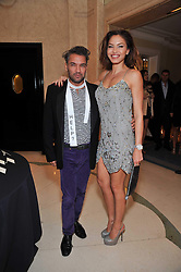 OZLEM ONAL and CARLOS MOTA at a dinner in honour of Dennis Basso in celebration of his new boutique in Harrods held at Claridge's, Brook Street, London on 15th October 2009.