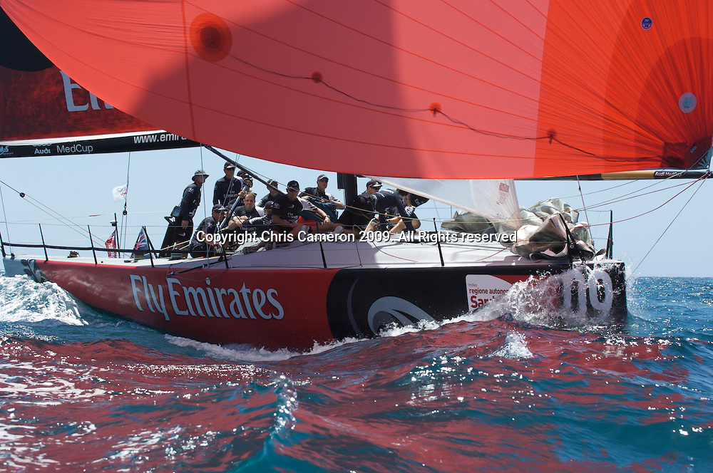 Emirates Team New Zealand tune up for day one day one, Sardinia Trophy, Audi MedCup 21/7/2009