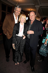 Left to right, SIMON WILLIAMS, ANGHARAD REES and her former husband CHRISTOPHER CAZENOVE  at a party to celebrate the publication of 'Past Imperfect' by Julian Fellowes held at Cadogan Hall, 5 Sloane Terrace, London SW1 on 4th November 2008.