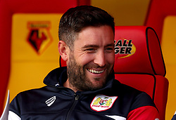 Bristol City head coach Lee Johnson smiles - Mandatory by-line: Robbie Stephenson/JMP - 22/08/2017 - FOOTBALL - Vicarage Road - Watford, England - Watford v Bristol City - Carabao Cup