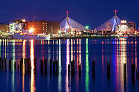 Boston Harbor & Zakim Bunker Hill Memorial Bridge